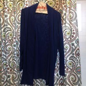 Blue long cardigan